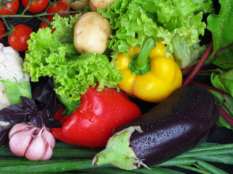 Vegetables. Meal for the vegetarian, and for all others stock image