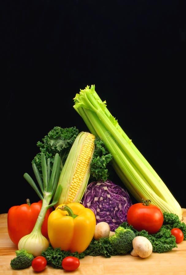 Vegetables. On Black Background stock photo
