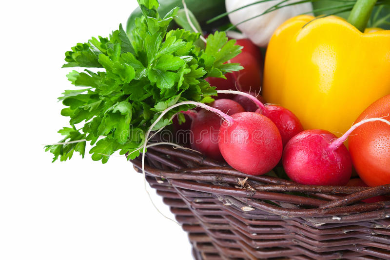 Download Vegetables Basket stock photo. Image of nutrition, natural - 26087988