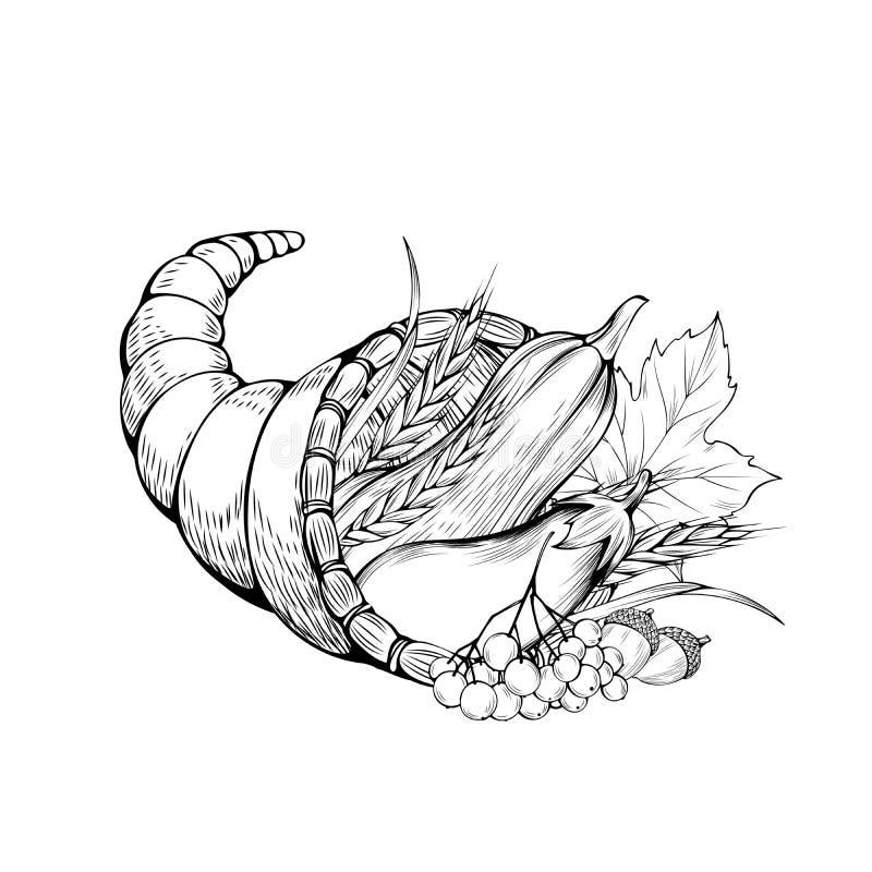 Vegetables basket coloring book vector illustration stock illustration
