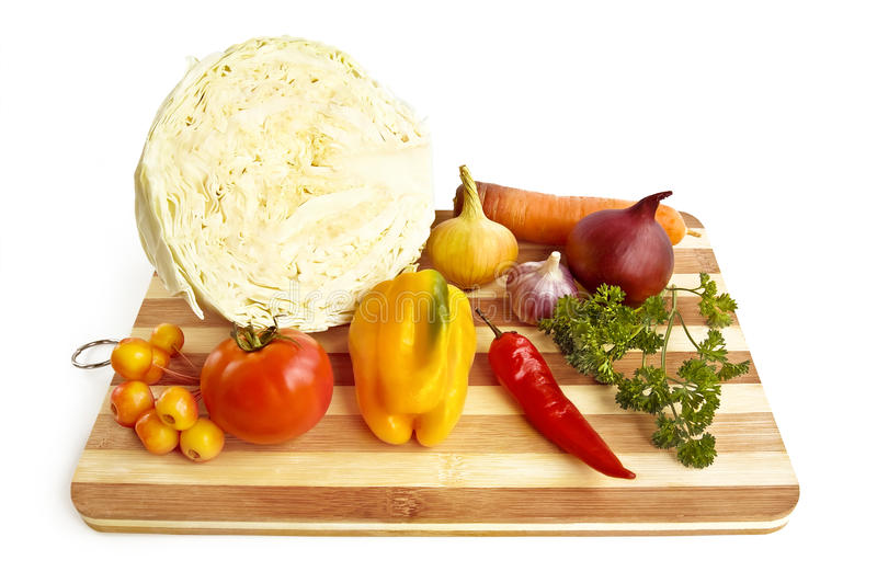 Vegetables on the board