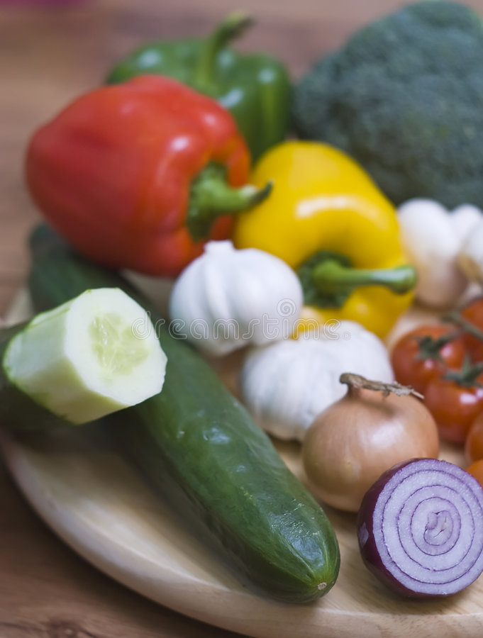 Download Vegetables on board stock image. Image of fresh, arrangement - 4270775