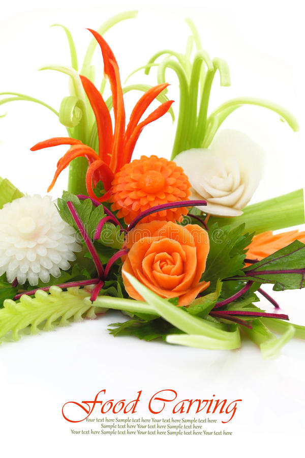 Vegetables carving royalty free stock image