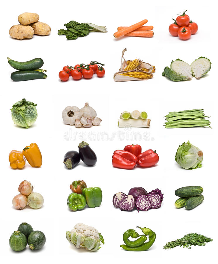 Vegetables collection. royalty free stock photo