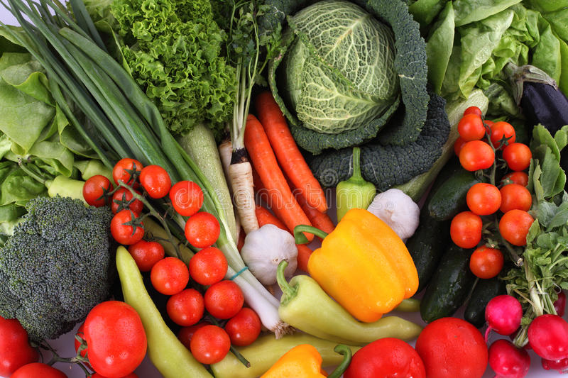 Vegetables. Collection of different fresh vegetables stock image
