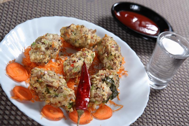 Multi vegetable dumpling, Ulundu pidi kozhukattai. Vegetables contain an array of antioxidants and other disease-fighting compounds that are very difficult to royalty free stock photography