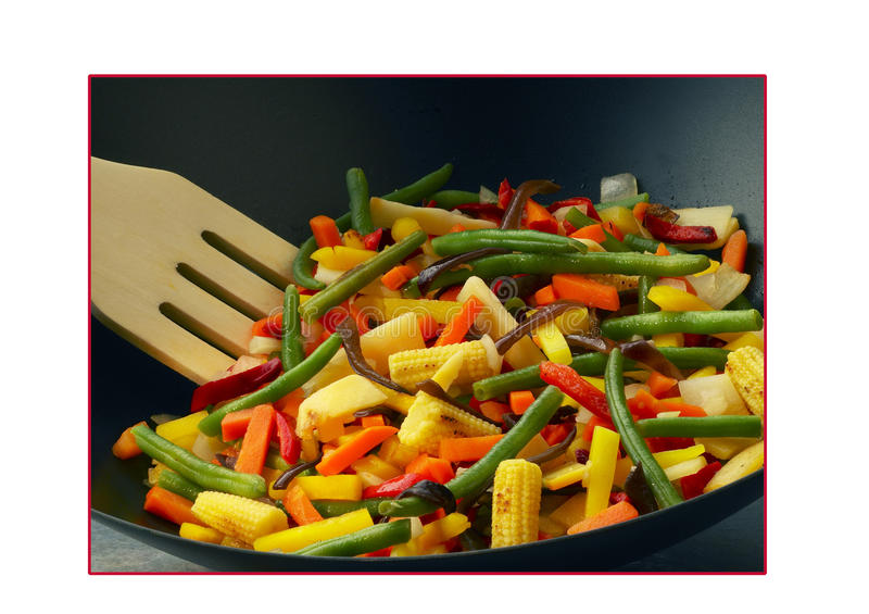 Download Vegetables cooked in a wok stock photo. Image of small - 23704016