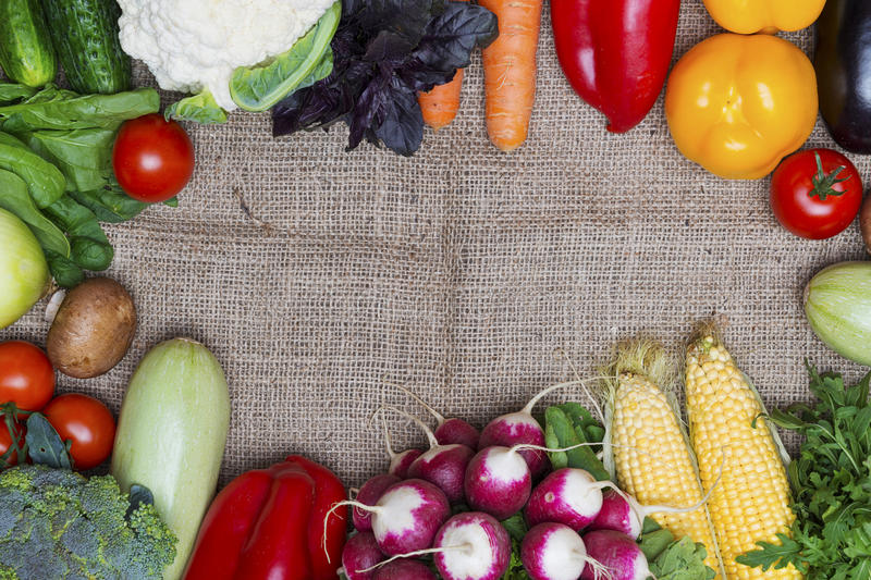 Vegetables with copy space stock image
