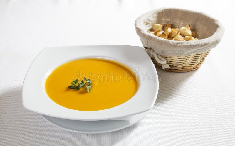 Vegetables cream soup stock photos