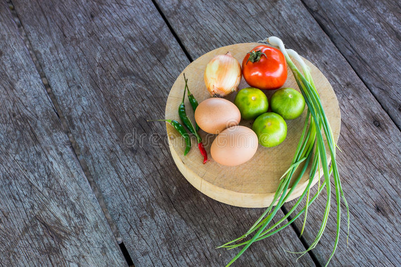 Vegetables on the cutting board royalty free stock images