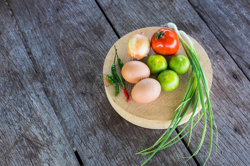 Vegetables on the cutting board royalty free stock photography
