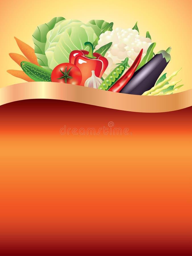 Vegetables dark vector background vector illustration