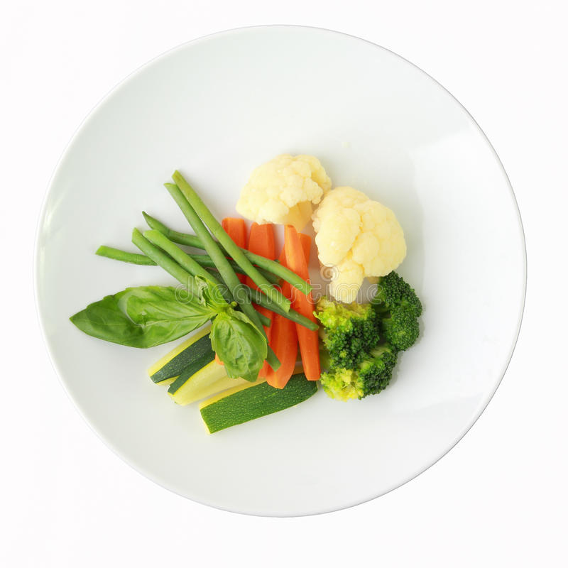 Vegetables on a dish stock photos