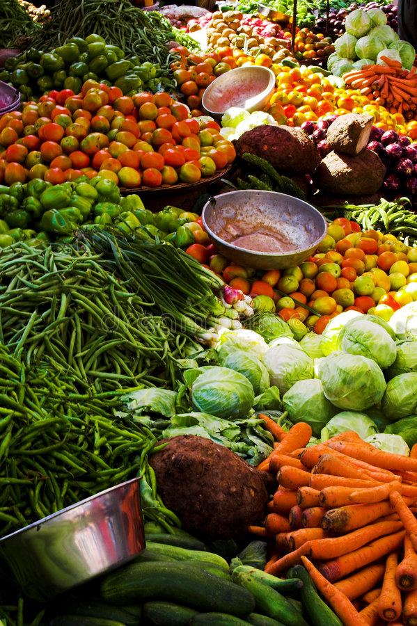 Vegetables on display royalty free stock photo