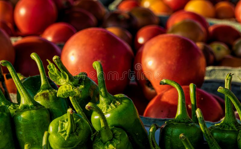Vegetables on Display at Farmers Market. In Fort Smith, Arkansas royalty free stock photos