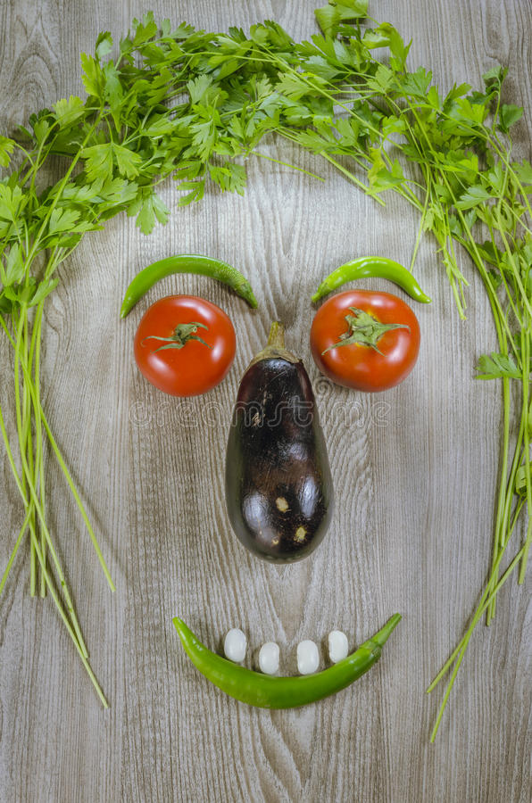 Vegetables face royalty free stock photos
