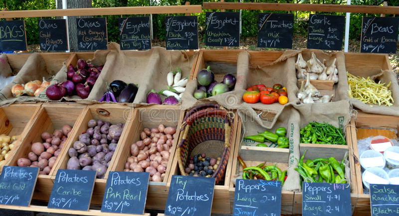 Vegetables at Farmers Market stock photography