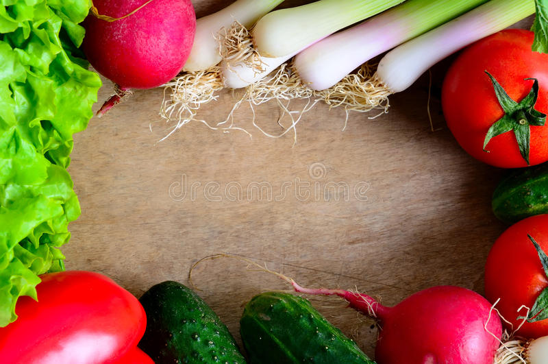 Vegetables frame stock photos