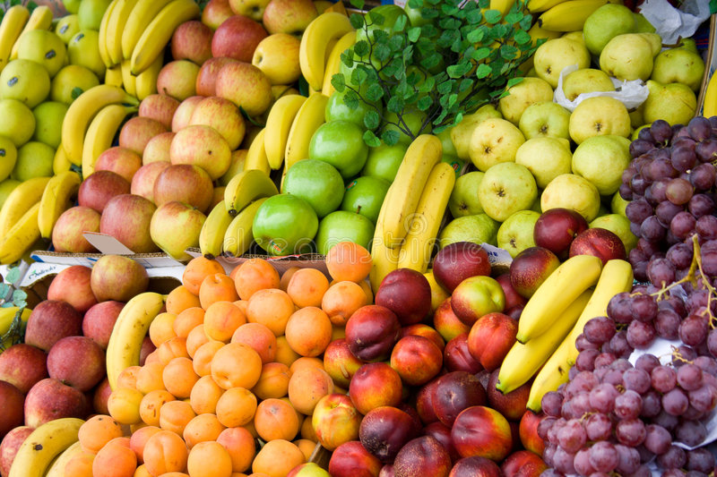 Vegetables and fruit stock photo