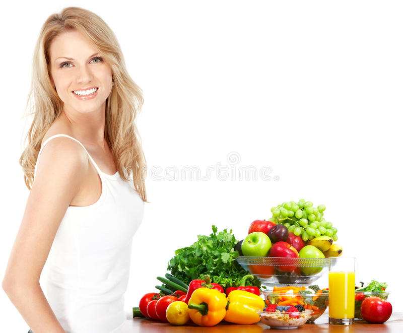Vegetables and fruits stock image