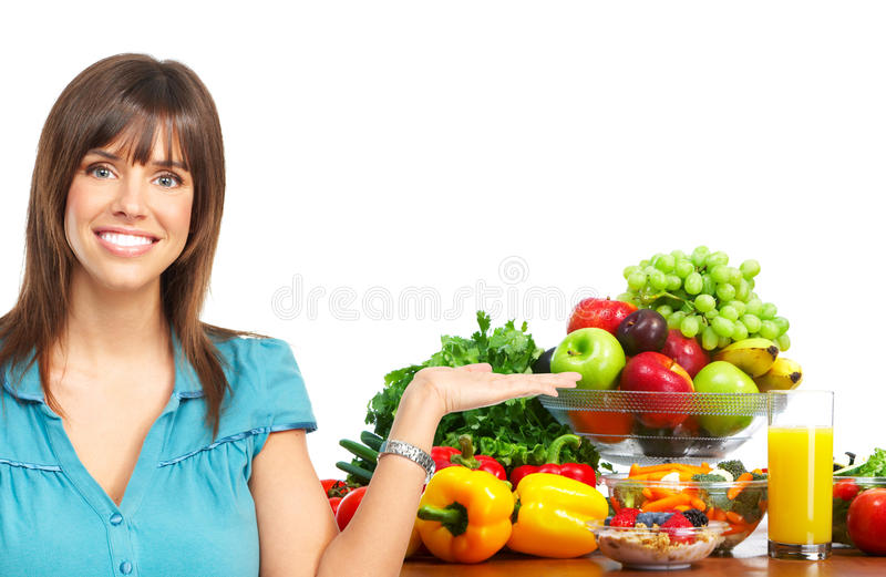 Download Vegetables and fruits stock image. Image of person, girl - 12722579