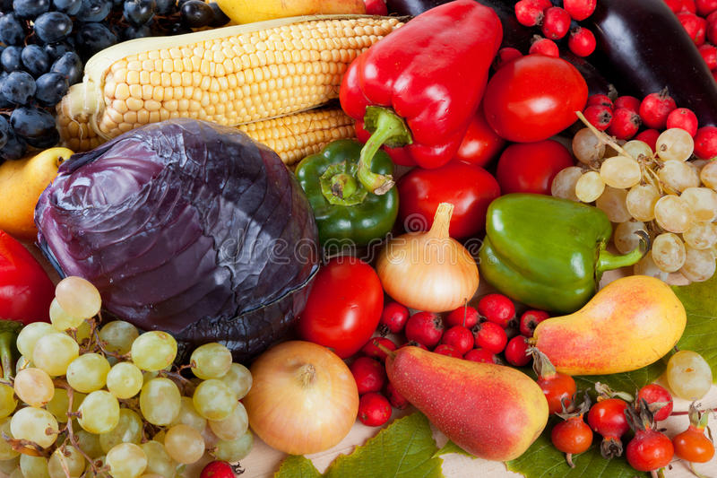 Vegetables and Fruits royalty free stock image