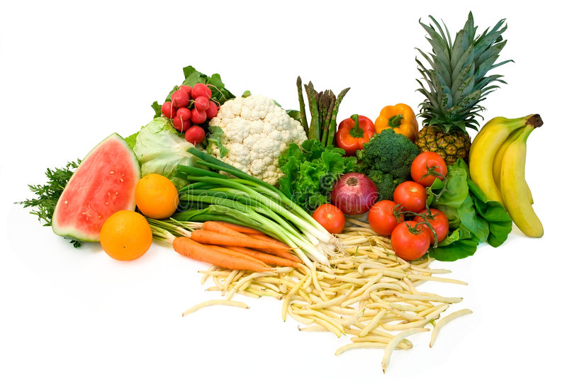 Download Vegetables and Fruits stock image. Image of food, display - 3373241