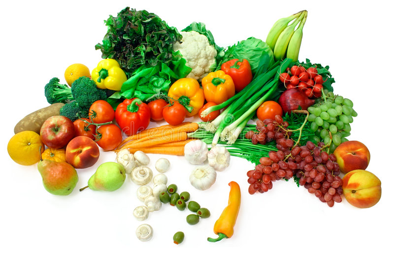 Vegetables and Fruits Arrangement 2 stock images