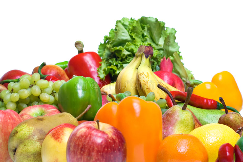 Download Vegetables & Fruits Isolated Stock Image - Image: 8589355