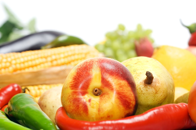 Download Vegetables & Fruits Isolated Stock Image - Image: 8589495