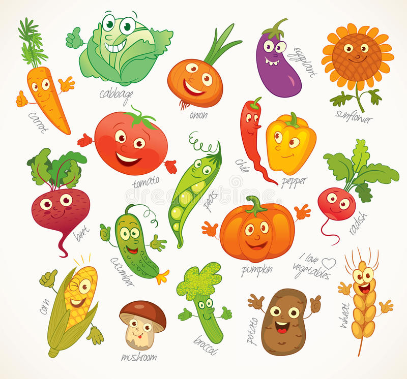 Free Vegetables. Funny Cartoon Character Royalty Free Stock Images - 48375549