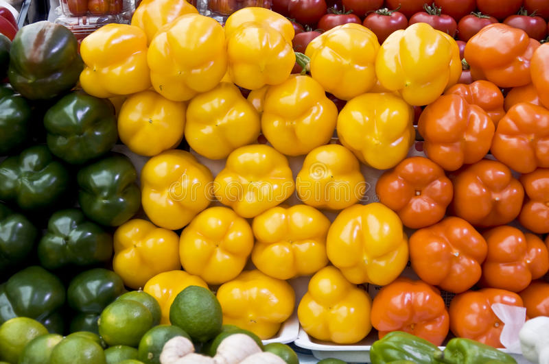Vegetables on the grocery market stock photos