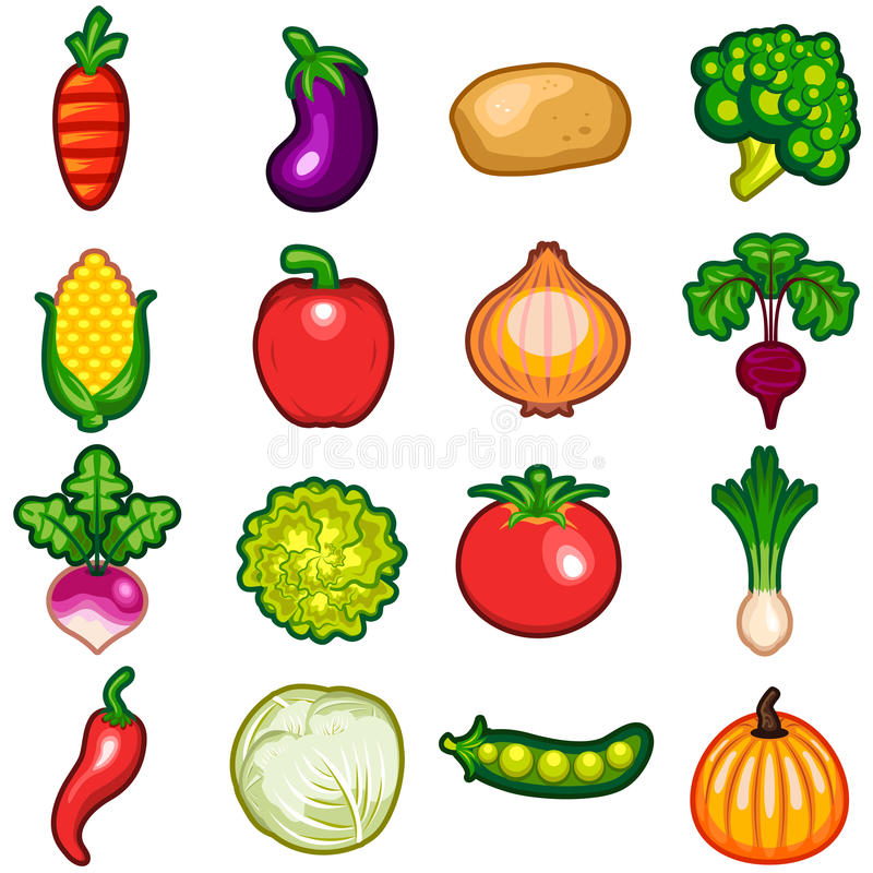 Vegetables Icon Set royalty free illustration