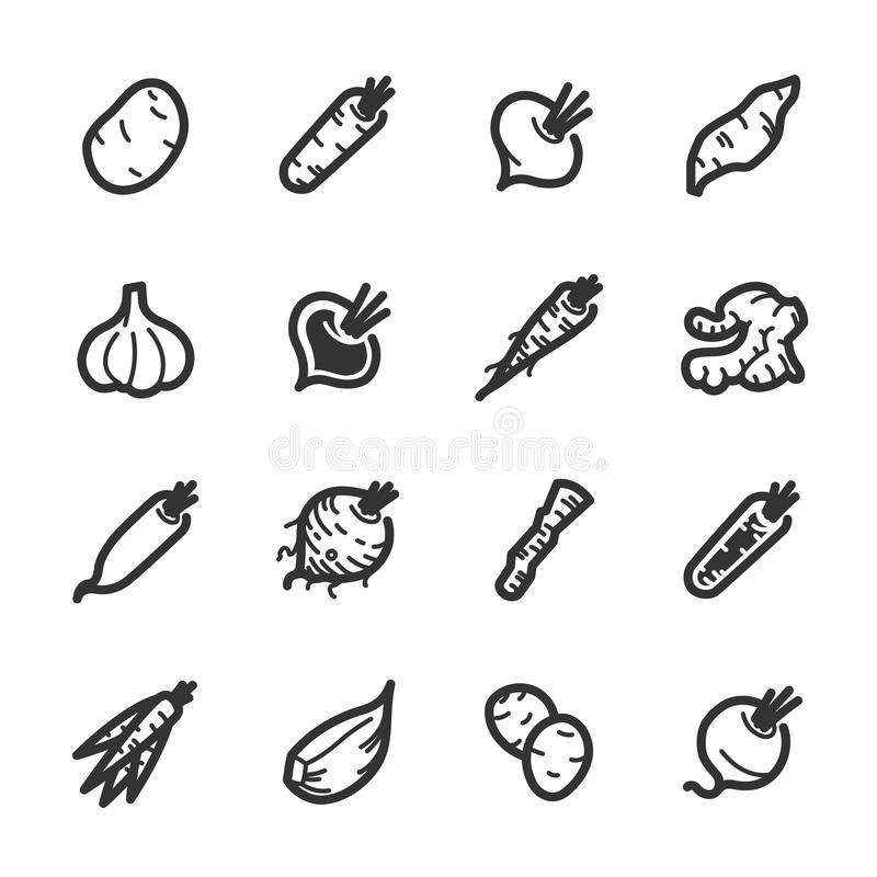 Vegetables icons – Bazza series stock images