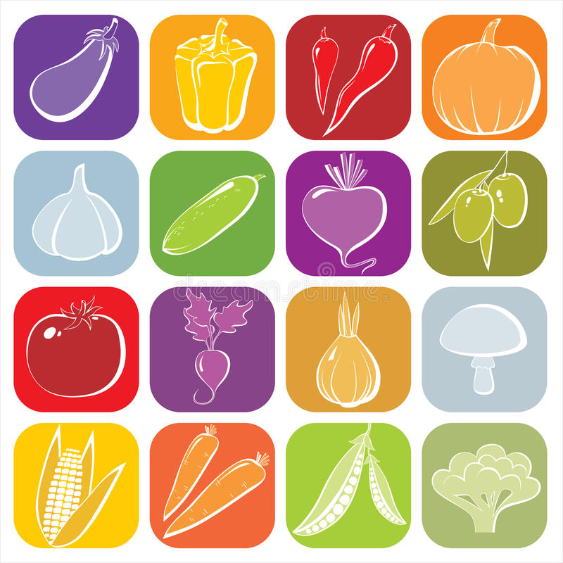 Free Vegetables Icons Stock Image - 18364361