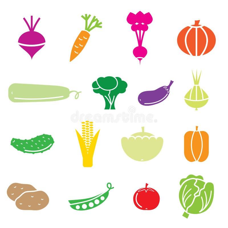 Vegetables. Icons set. vector eps 8 stock illustration