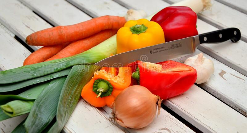 Vegetables With Knife Free Public Domain Cc0 Image