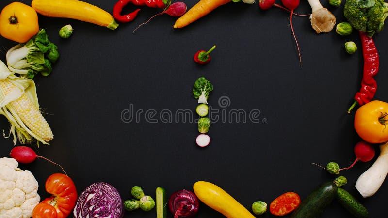 Vegetables made letter I stock images