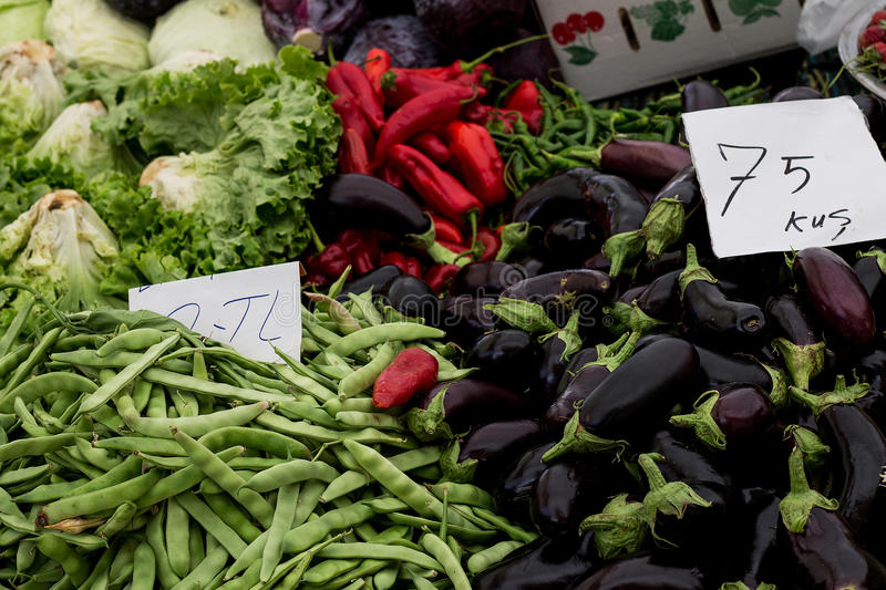 Vegetables market royalty free stock photo