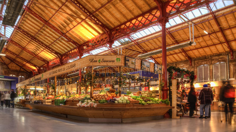 Vegetables Market in Colmar stock photography