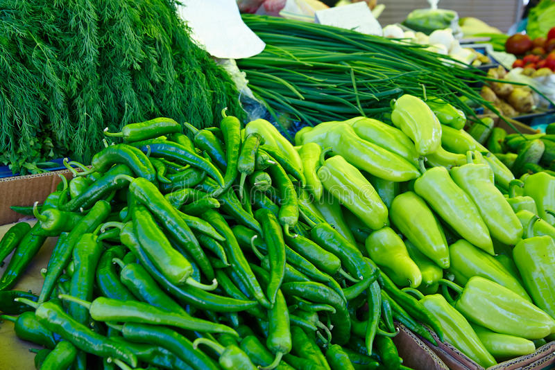 Vegetables on the market royalty free stock photography