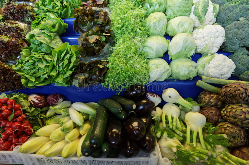 Download Vegetables On The Market Stall Stock Photo - Image: 93755226