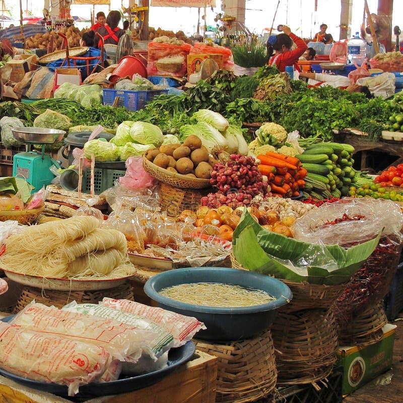 Vegetables at market stock image