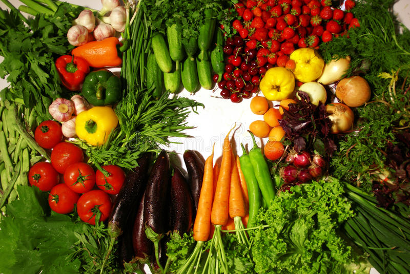 Vegetables Mix On White Royalty Free Stock Images