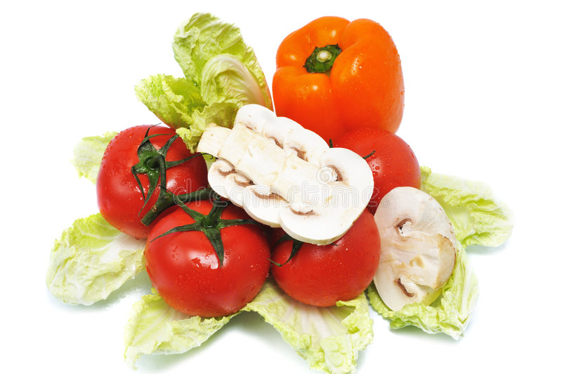 Vegetables with mushroom stock photos
