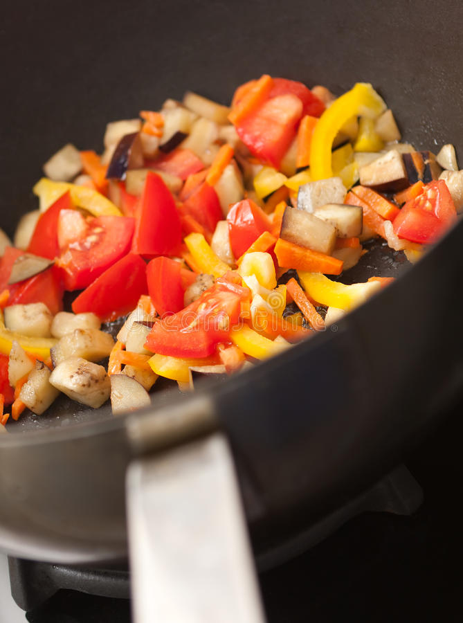 Vegetables In The Pan Royalty Free Stock Photo