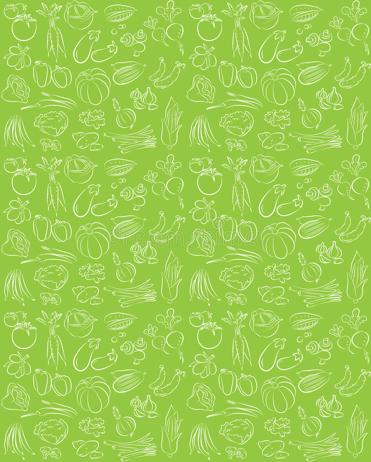 Free Vegetables Pattern Stock Photography - 35125062