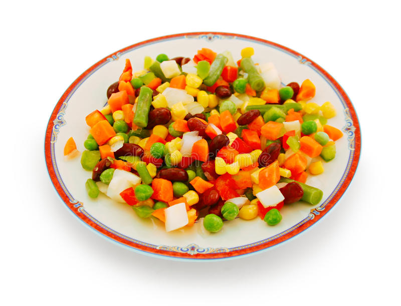 Download Vegetables on a plate stock illustration. Illustration of colorful - 13635337