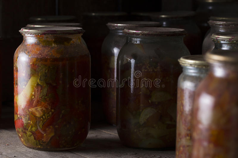 Vegetables preserves royalty free stock images