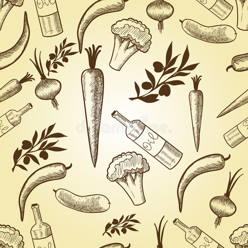 Download Vegetables In Retro Style Seamless Pattern Stock Photography - Image: 21704992